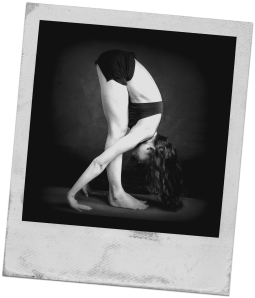 Photograph: Female yoga pose.